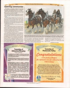 A Journey Through Time - Past, Present and Future. Published by The Eganville Leader, celebrating the 150th anniversary of Renfrew County. Page 4