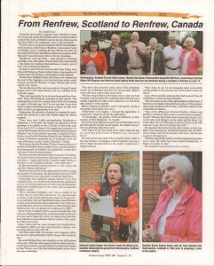 A Journey Through Time - Past, Present and Future. Published by The Eganville Leader, celebrating the 150th anniversary of Renfrew County. Page 54