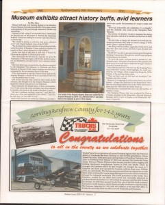 A Journey Through Time - Past, Present and Future. Published by The Eganville Leader, celebrating the 150th anniversary of Renfrew County. Page 45