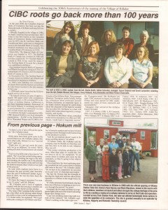 Killaloe Today, published in August of 2008 to commemorate the Town's 100th Birthday. Page 10