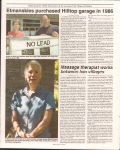 Killaloe Today, published in August of 2008 to commemorate the Town's 100th Birthday. Page 12