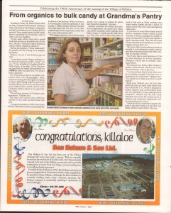 Killaloe Today, published in August of 2008 to commemorate the Town's 100th Birthday. Page 13