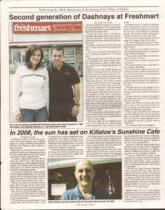 Killaloe Today, published in August of 2008 to commemorate the Town's 100th Birthday. Page 19