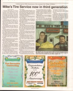 Killaloe Today, published in August of 2008 to commemorate the Town's 100th Birthday. Page 20
