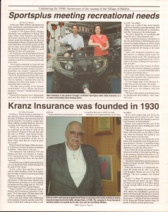 Killaloe Today, published in August of 2008 to commemorate the Town's 100th Birthday. Page 25