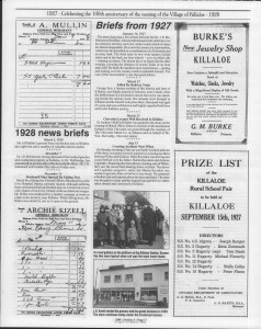 A trip down memory lane, produced by the Eganville Leader to commemorate Killaloe's centennial, in August 2008. Page 33