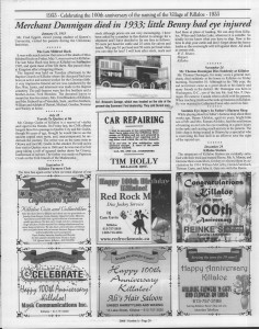A trip down memory lane, produced by the Eganville Leader to commemorate Killaloe's centennial, in August 2008. Page 39