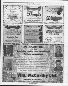 A trip down memory lane, produced by the Eganville Leader to commemorate Killaloe's centennial, in August 2008. Page 40
