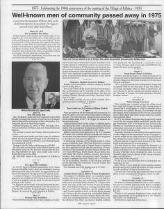 A trip down memory lane, produced by the Eganville Leader to commemorate Killaloe's centennial, in August 2008. Page 79