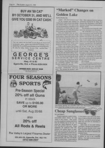 The Laker Issue 14, From Friday, August 19, 1988.