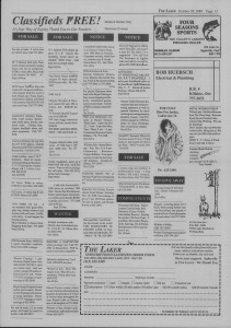 The Laker Issue 24 From, Friday, October 28, 1988.