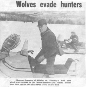 Shannon Summers participates in controversial wolf hunt. Betty Mullin Collection.