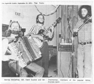 Popular local band Wilno Express from 1975. Betty Mullin Collection.