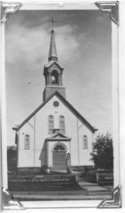 Photo of Old St. Andrew's Church. Pearl Murack Collection.