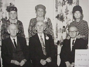 The  Layman Brothers and their wives. From left to right, Ferdinand and Mary, Herman and Minnie, Gustave and Evelyn. Killaloe Millennium Museum Exhibit.