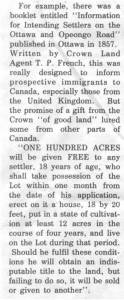 This story and linked photos was written by Brenda Lee-Whiting and published in the Eganville Leader April 2nd, 1975. It is the story of the O'Grady family and Settlement about 9 miles south-west of Killaloe along the Opeongo Line. This is part 3 of 19