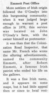 This story and linked photos was written by Brenda Lee-Whiting and published in the Eganville Leader April 2nd, 1975. It is the story of the O'Grady family and Settlement about 9 miles south-west of Killaloe along the Opeongo Line. This is part 9 of 19