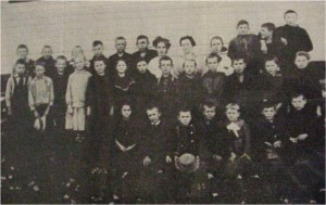 unidentified group of school children