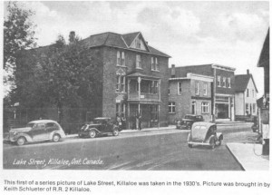 Photo of Lake Street, Killaloe, late 1930's. Pearl Murack Collection.