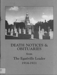 Death Notices & Obituaries from The Eganville Leader 1914-1921
