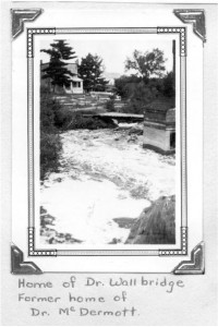At the time of the photo this was the home of Dr. Wallbridge and Dr. McDermott before him along Brennan's Creek. Circa 1930. Pearl Murack Collection.