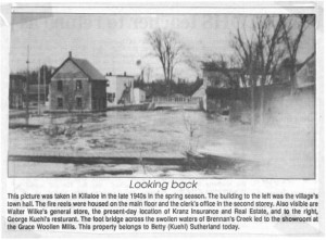 High water on Brennan's Creek in the late 1940's. Betty Mullin Collection.