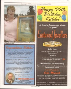 Killaloe Today, published in August of 2008 to commemorate the Town's 100th Birthday. Page 43
