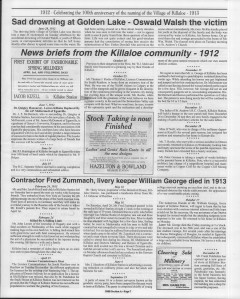 A trip down memory lane, produced by the Eganville Leader to commemorate Killaloe's centennial, in August 2008. Page 14