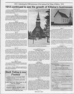 A trip down memory lane, produced by the Eganville Leader to commemorate Killaloe's centennial, in August 2008. Page 15