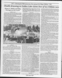 A trip down memory lane, produced by the Eganville Leader to commemorate Killaloe's centennial, in August 2008. Page 28