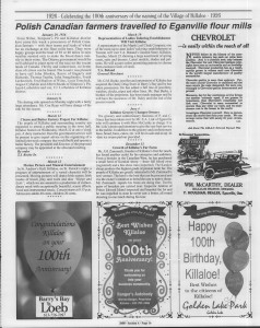 A trip down memory lane, produced by the Eganville Leader to commemorate Killaloe's centennial, in August 2008. Page 31