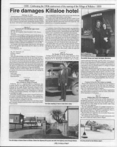 A trip down memory lane, produced by the Eganville Leader to commemorate Killaloe's centennial, in August 2008. Page 34