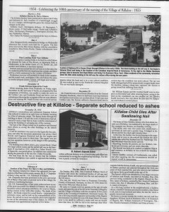 A trip down memory lane, produced by the Eganville Leader to commemorate Killaloe's centennial, in August 2008. Page 36