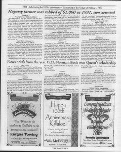 A trip down memory lane, produced by the Eganville Leader to commemorate Killaloe's centennial, in August 2008. Page 38