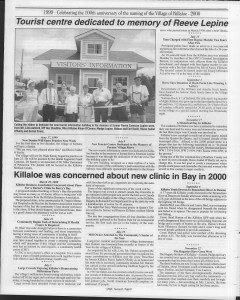 A trip down memory lane, produced by the Eganville Leader to commemorate Killaloe's centennial, in August 2008. Page 56