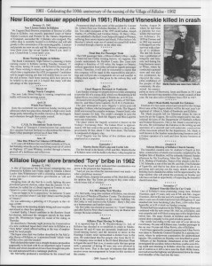 A trip down memory lane, produced by the Eganville Leader to commemorate Killaloe's centennial, in August 2008. Page 58