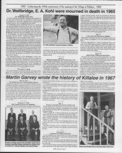 A trip down memory lane, produced by the Eganville Leader to commemorate Killaloe's centennial, in August 2008. Page 62