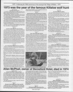 A trip down memory lane, produced by the Eganville Leader to commemorate Killaloe's centennial, in August 2008. Page 78