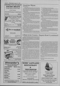The Laker Issue 13, From Friday, August 12, 1988.