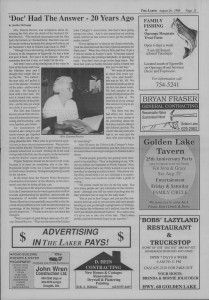 The Laker Issue 15 From, Friday, August 26, 1988.