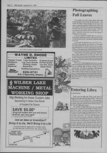 The Laker Issue 19 From, Friday, September 23, 1988.