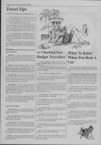 The Laker Issue 29 From, Friday, December 2, 1988.