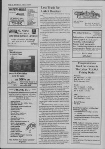 The Laker Issue 37 From, Friday, March 3, 1989.