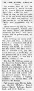 Martin Sullivan obituary.