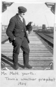Photo of Matt Yourth 1904. Pearl Murack Collection.