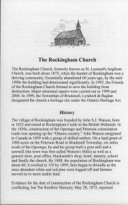 Rockingham Church History 1