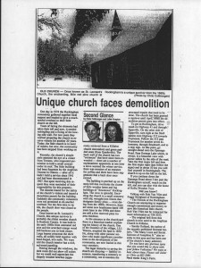 Unique Church demolition - rockingham