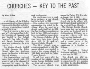 This collection of stories and photos was printed in the 70's in Barry's Bay This Week newspaper. Part 8 of 10. Betty Mullin Collection.