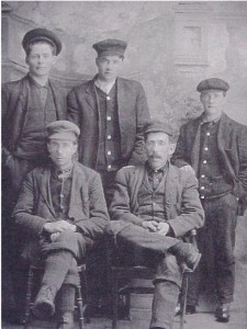 Photo of the lads from the O'Grady Settlement circa 1908. Killaloe Millennium Museum Exhibit.