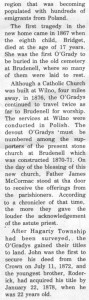 This story and linked photos was written by Brenda Lee-Whiting and published in the Eganville Leader April 2nd, 1975. It is the story of the O'Grady family and Settlement about 9 miles south-west of Killaloe along the Opeongo Line. This is part 8 of 19